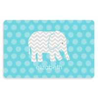 The Softer Side by Weather Guard™ Elephant 23-Inch x 36-Inch Kitchen Mat in Blue
