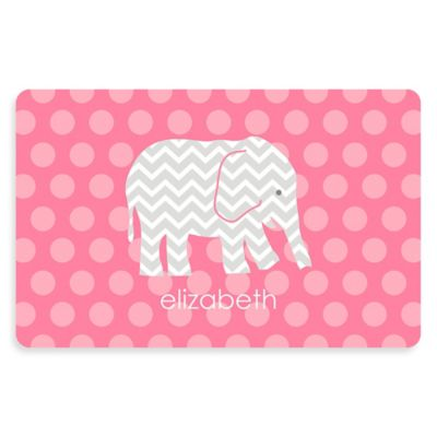 The Softer Side By Weather Guard™ Elephant 23 Inch X 36 Inch Kitchen Mat In  Pink