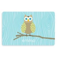 The Softer Side by Weather Guard™ Owl 23-Inch x 36-Inch Kitchen Mat in Blue