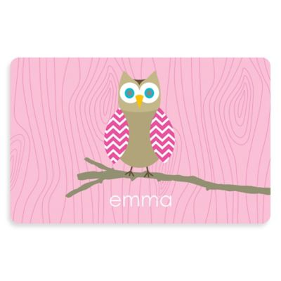 The Softer Side By Weather Guard™ Owl 23 Inch X 36 Inch Kitchen Mat In Pink