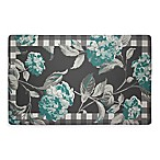 Laura Ashley® Hydrangea 32-Inch x 20-Inch Memory Foam Kitchen Mat in Teal