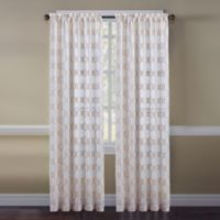 Cape Cod Rope Knot 84-Inch Rod Pocket Embroidered Window Curtain Panel