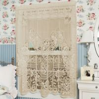 Heritage Lace® Victorian Rose 30-Inch Window Curtain Tier in Ecru