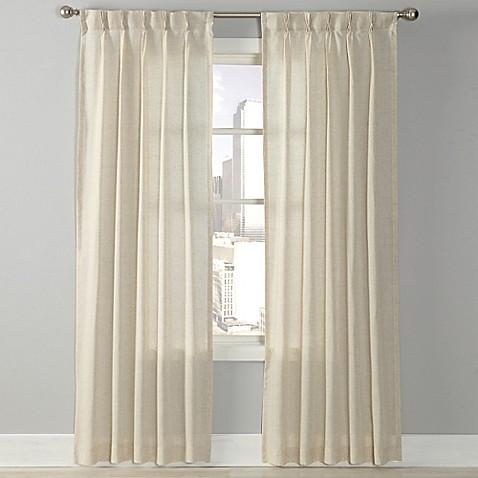 Splendor Grommet Glide Pinch Pleat Sheer Window Curtain Panel Bed Bath Beyond