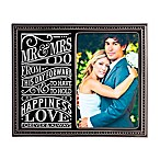 "Grasslands Road® 4-Inch x 6-Inch ""Modern Love"" Wedding Photo Frame in Black"