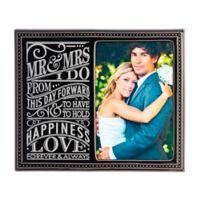 "Grasslands Road® 4-Inch x 6-Inch ""Modern Love"" Wedding Photo Frame in Black"