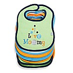 "Frenchie Mini Couture 7-Pack ""I Love"" Waterproof Multicolor Terry Bibs"