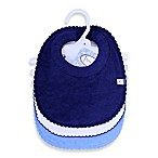 Frenchie Mini Couture 3-Pack Milk Catcher Boy's Bibs in Blue/White
