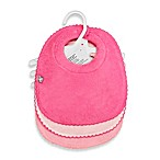 Frenchie Mini Couture 3-Pack Milk Catcher Waterproof Terry Girl's Bibs in Pink
