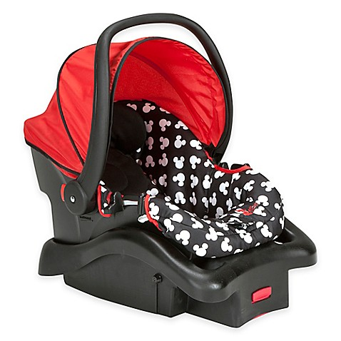 buy disney light n comfy mickey mouse polka dot luxe car seat in red from bed bath beyond. Black Bedroom Furniture Sets. Home Design Ideas