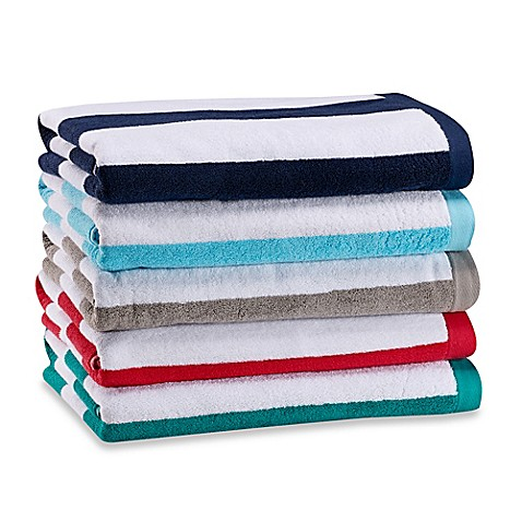 Wamsutta Heavyweight Resort Stripe Beach Towel Bed Bath Beyond