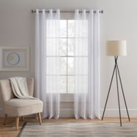 Cambria® Alix 95-Inch Grommet Top Sheer Window Curtain Panel in Pure White
