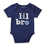 "Mud Pie® Size 3M ""Lil Bro"" Patchwork Bodysuit in Navy"