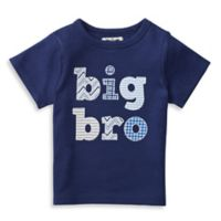 "Mud Pie® Size 24M ""Big Bro"" Patchwork Shirt in Navy"
