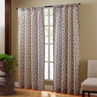 Sedona 95-Inch Rod Pocket Sheer Window Curtain Panel in Taupe