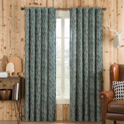 boulder 84inch rod pocketback tab window curtain panel in pine