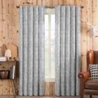 Boulder 95-Inch Rod Pocket/Back Tab Window Curtain Panel in Grey