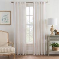 Bayport Stripe 84-Inch Rod Pocket/Back Tab Window Curtain Panel in Linen