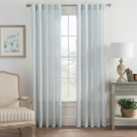 Bayport Stripe 63-Inch Rod Pocket/Back Tab Window Curtain Panel in Seafoam
