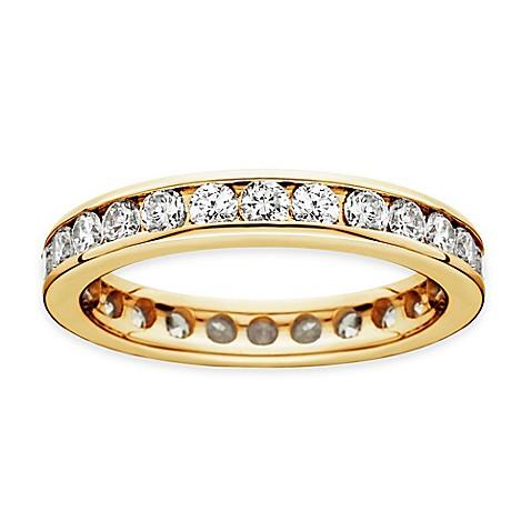 14K Yellow Gold 15 Cttw Diamond Channel Set Ladies Eternity Wedding Band