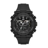 Skechers® Men's 50mm Analog and Digital Watch in Black Plastic with Black Polyurethane Strap