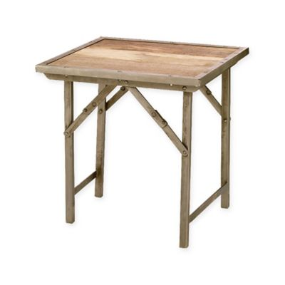 Gentil Jamie Young Campaign Folding Side Table
