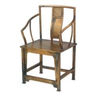 Jamie Young Ming Square Back Chair in Antique Bronze