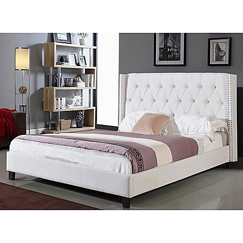 Abbyson Living® Madison Tufted Wingback Platform Bed