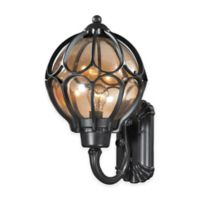 ELK Lighting Madagascar Large 1-Light Outdoor Wall-Mount Sconce in Matte Black