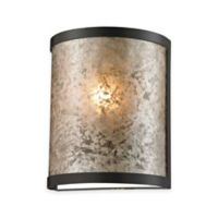 Elk Lighting Mica 9-Inch 1-Light Wall Sconce in Oil-Rubbed Bronze with Glass Shade
