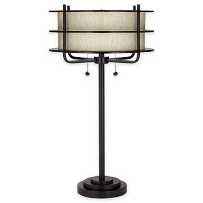 Pacific Coast Lighting Kathy Ireland Ovation Table Lamp In Bronze
