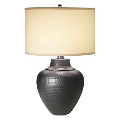 Pacific Coast® Lighting Maison Loft Table Lamp In Black Bronze With Linen  Shade