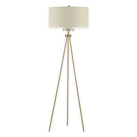 buy ink ivy pacific tripod floor lamp in gold from bed bath beyond. Black Bedroom Furniture Sets. Home Design Ideas