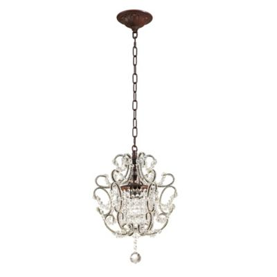 Elk lighting 1 light pendant lamp in rust