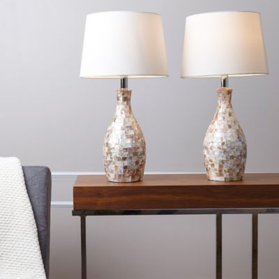 Abbyson Living Mother Of Pearl Table Lamp Set 2
