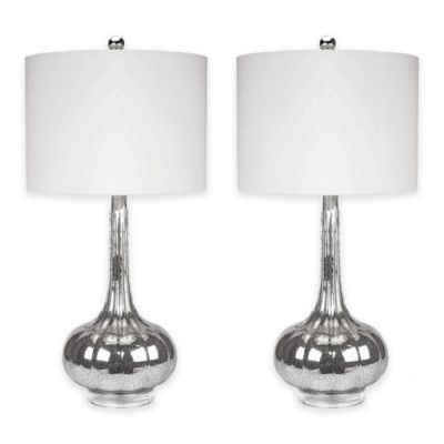 Abbyson Living® Michelle Mercury Glass Table Lamp (Set Of 2)