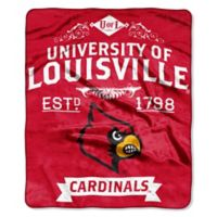 University of Louisville Raschel Throw