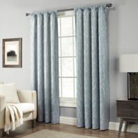 Pinehurst 63-Inch Rod Pocket Window Curtain Panel in Blue
