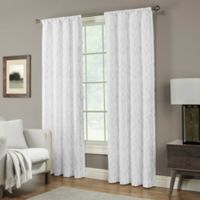 Pinehurst 63-Inch Rod Pocket Window Curtain Panel in White