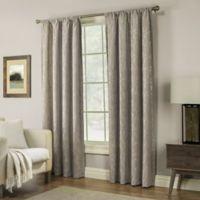 Pinehurst 84-Inch Rod Pocket Window Curtain Panel in Mocha