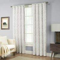 Pinehurst 63-Inch Rod Pocket Window Curtain Panel in Silver