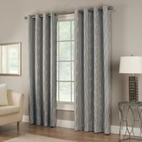 Waterfall 84-Inch Grommet Top Lined Window Curtain Panel in Indigo