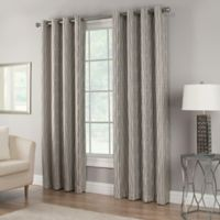 Waterfall 84-Inch Grommet Top Lined Window Curtain Panel in Grey