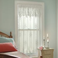 Heritage Lace® Tea Rose 63-Inch Rod Pocket Window Curtain Panel in White