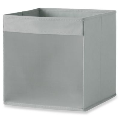 Real Simple® Mesh Front Foldable Storage Bin In Grey