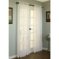 Commonwealth Home Fashions Hydrangea 63-Inch Rod Pocket Window Curtain Panel in Cream