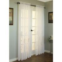 Hydrangea 63-Inch Rod Pocket Window Curtain Panel in Cream