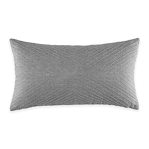 Grey Throw Pillows For Bed : Manor Hill Lowery Corded Oblong Throw Pillow in Light Grey - Bed Bath & Beyond