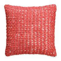 Royal Heritage Home® Gabriella Open-Knit Square Throw Pillow in Coral