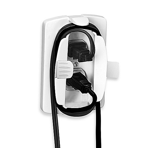 safety 1st outlet cover with cord shortener bed bath beyond. Black Bedroom Furniture Sets. Home Design Ideas